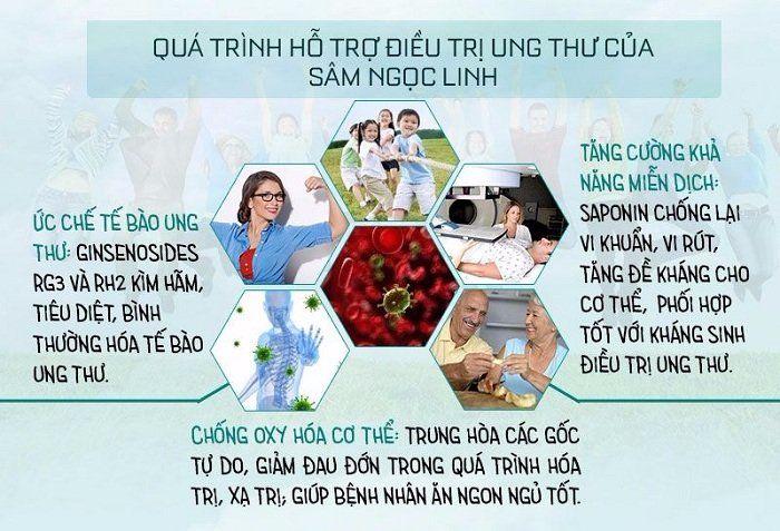 Sâm Ngọc Linh hỗ trợ điều trị ung thư