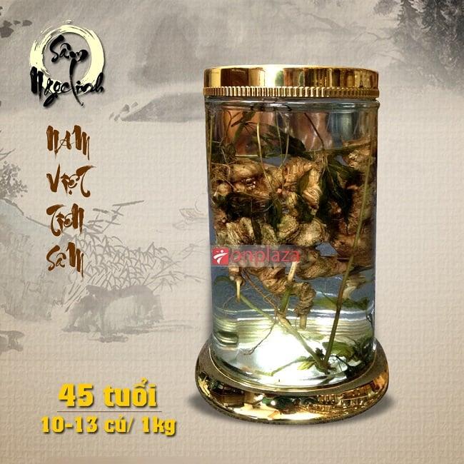 Bình sâm Ngọc Linh 45 năm tuổi loại 1kg 10 – 13 củ