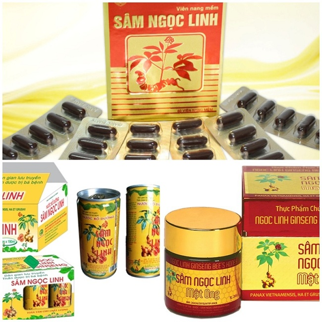 Các sản phẩm chiết xuất từ sâm Ngọc Linh