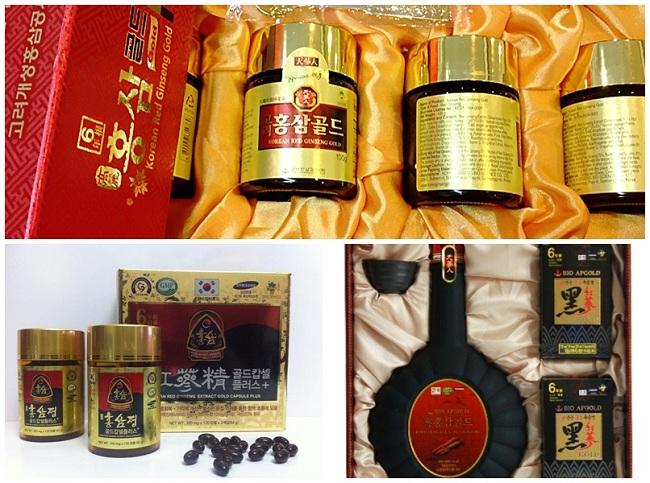 Các sản phẩm chiết xuất từ sâm Hàn Quốc