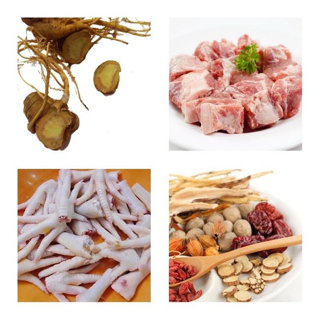 Kết hợp sâm Ngọc Linh quý hiếm cùng sườn heo với các nguyên liệu đem đến một món ngon bổ dưỡng