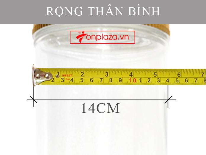 Bình sâm Ngọc Linh dáng trụ dài loại 15L chất lượng cao NS400 5
