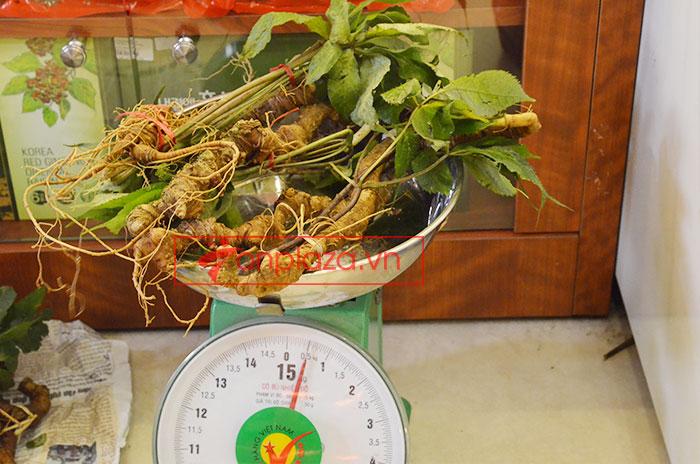 Sâm ngọc linh tự nhiên loại 5 củ/kg 9