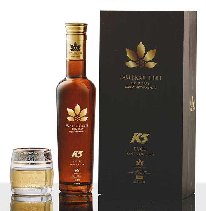 Rượu Sâm Ngọc Linh K5 Gold – 500ml 1