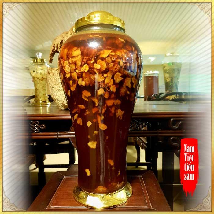 Bình sâm Ngọc Linh thái lát tẩm mật ong bình 17L NS418