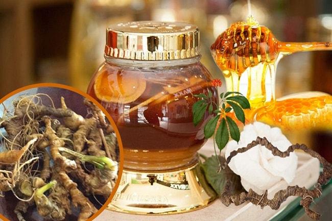 Sâm Ngọc Linh ngâm mật ong rất tốt cho người già