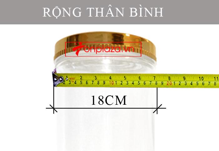 Bình ngâm sâm Ngọc Linh hình trụ cỡ lớn 20L NS327 5