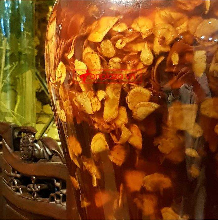 Bình 1kg sâm Ngọc Linh thái lát tẩm mật ong 7 lít NS639 3