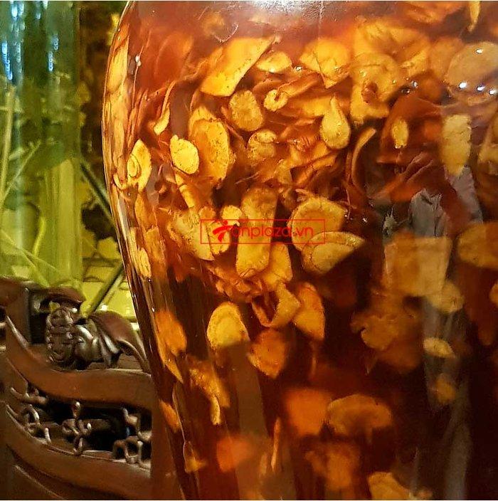 Bình sâm Ngọc Linh thái lát tẩm mật ong bình 17L NS418 3