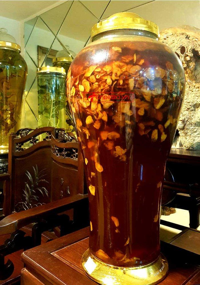 Bình sâm Ngọc Linh thái lát tẩm mật ong bình 17L NS418 4