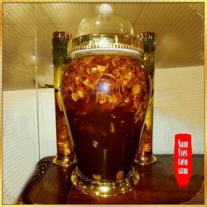 Sâm Ngọc Linh và đông trùng hạ thảo ngâm mật ong bình NO.12 - 7L NS672
