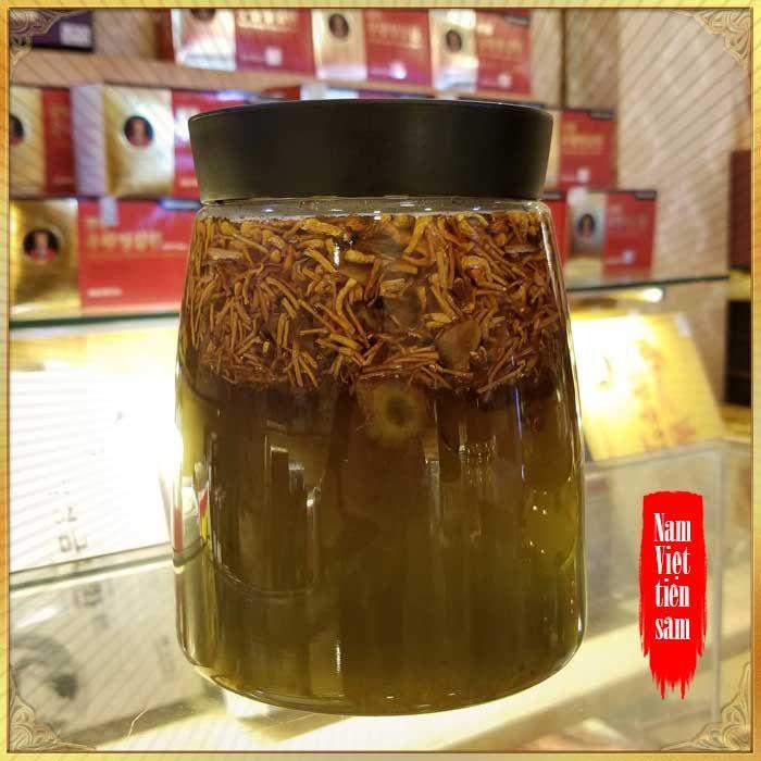 Sâm Ngọc Linh và Đông trùng hạ thảo ngâm mật ong bình NO.13- 6L NS671