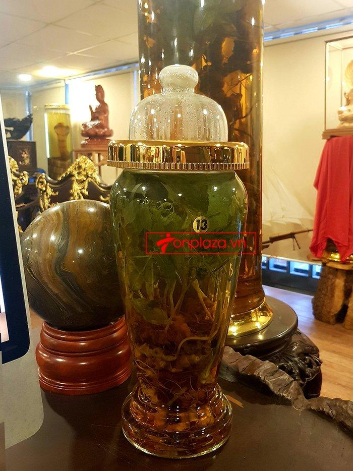 Bình sâm Ngọc Linh rừng cao cấp số 13 - 6 lít 4