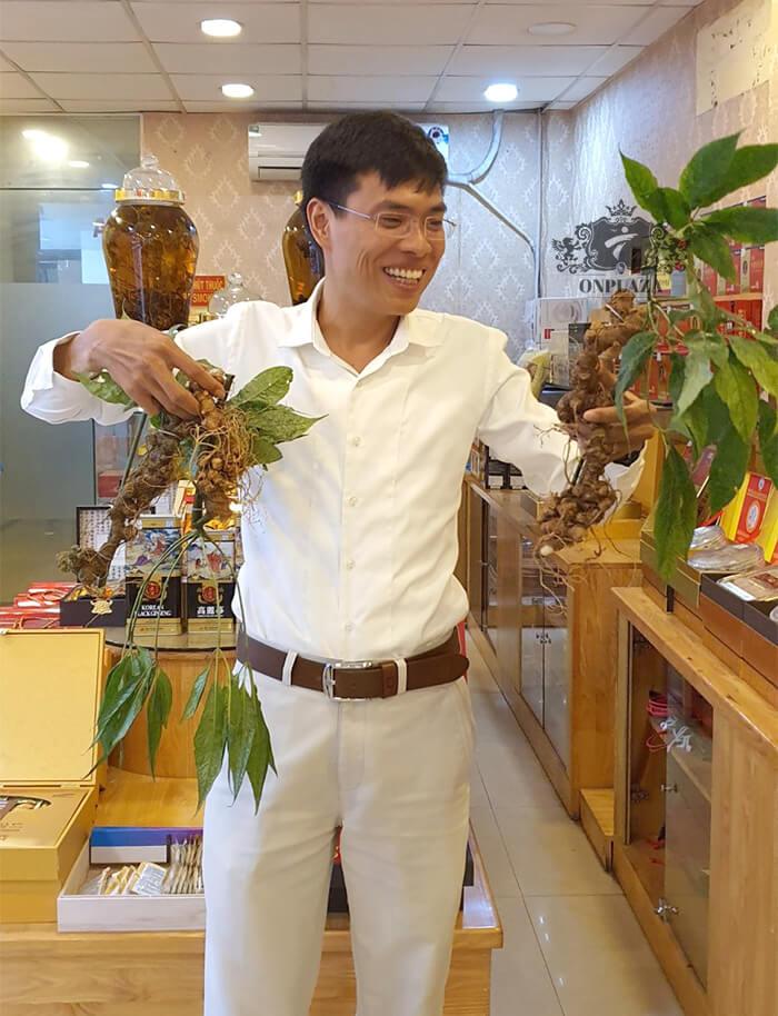 Sâm Ngọc Linh trồng 15 - 20 năm tuổi, 5 củ 1kg 3